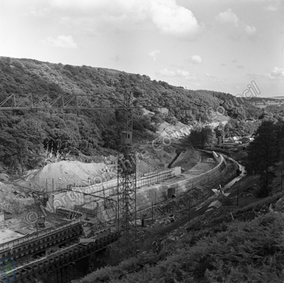 Thruscross, Dam Under Construction, 1963